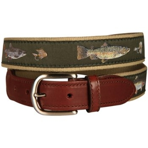 Freshwater Fish And Flies Tab Belt