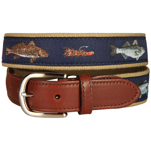 Saltwater Fish And Flies Tab Belt