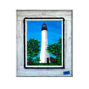 Key West Lighthouse Framed At Print