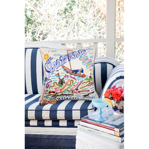 Hamptons Hand-Embroidered Pillow