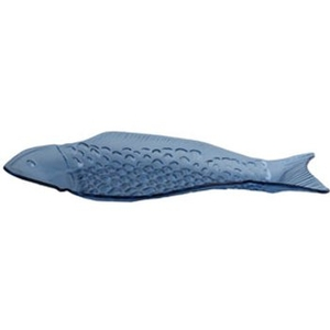 Ocean Blue Fish Glass Plate