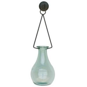 Tall Gourd Vase & Metal Hanger