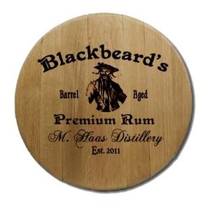 Blackbeard'S Barrel Head Sign Personalized