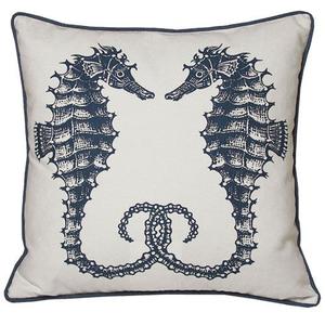 Seahorses Nautical Large Pillow