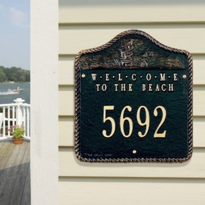 Welcome To The Beach Plaque