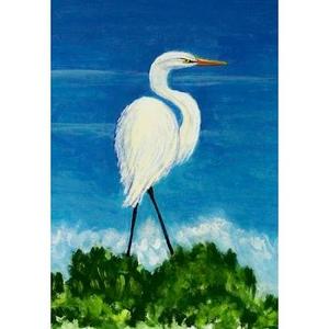 Great Egret Designer Flag