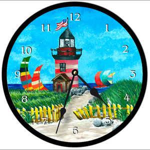 Lighthouse Clock Round