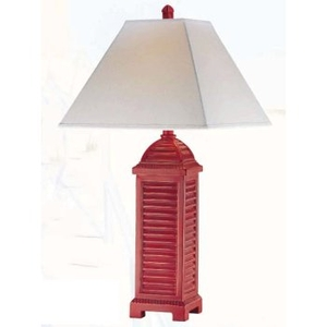 Gypsy Red Shutter Table Lamp