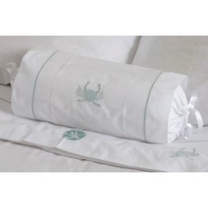 Aqua Crab Bolster Bed Pillow