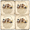 Shell Basket Marble Coasters Set Of 4