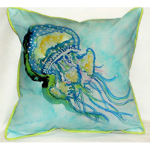 Jelly Fish Large Indoor Outdoor Pillow