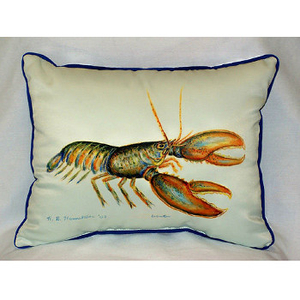 Lobster Large Indoor Outdoor Pillow