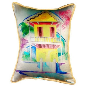 W. Palm Hut Yellow Large Pillow
