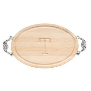 Personalized Oval Tray With Victorian Handle