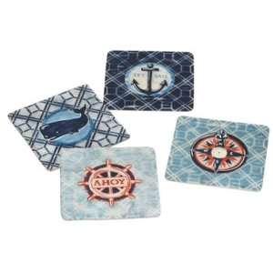 Coastal Capiz Coasters Set Of 4