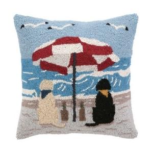 Beach Dog Hook Pillow