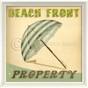 Beach Front Property Framed Art