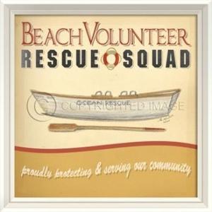 Beach Volunteer Rescue Squad Framed Art