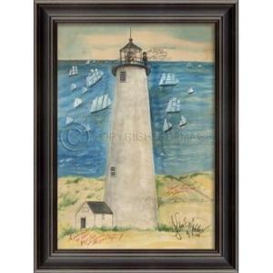 Great Point Lighthouse Framed Art