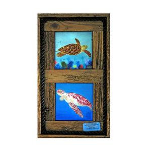 Two Turtles Framed Tiles