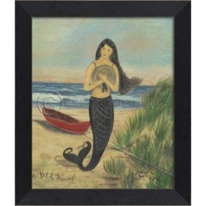 Bit of Wauwinet Mermaid Framed Art