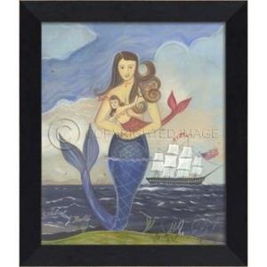 Celebrating Belle Mermaid Framed Art