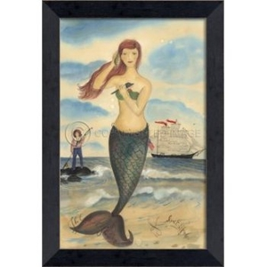 The Call Of The Sea Mermaid Framed Art