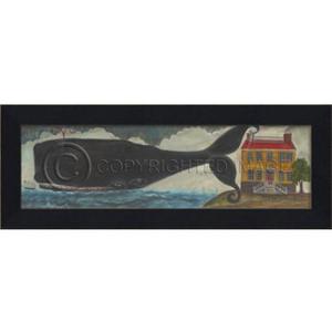 Main Nantucket Whale Framed Art