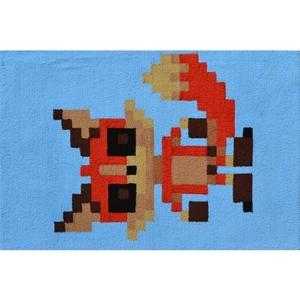 Pixel Fox Hook Rug, 2.8 X 4.8