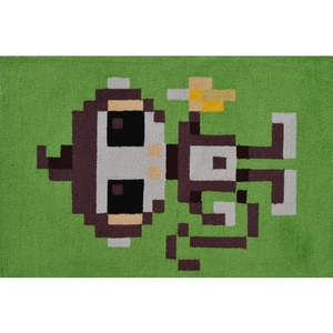 Pixel Monkey Hook Rug, 2.8 X 4.8