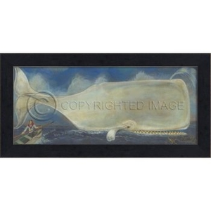 Moby Dick Your Time Has Come Whale Framed Art