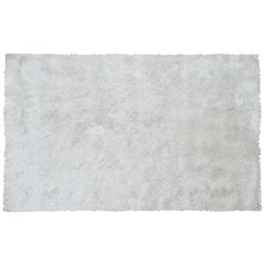 Sensual White Shag Rug, 5.3 X 7.7