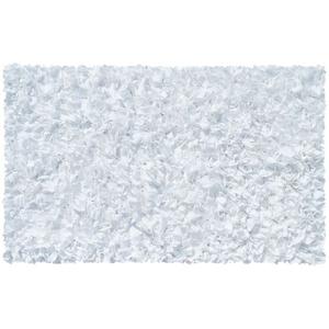 Shaggy Raggy White Shag Rug, 22 X 34