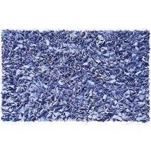 Shaggy Raggy D/Blue Shag Rug, 22 X 34