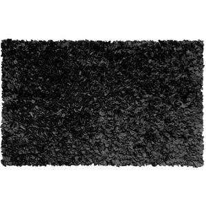 Shaggy Raggy Black Shag Rug, 22 X 34