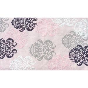 Brocade Pink Flannel/Hook Rug, 2.8 X 4.8