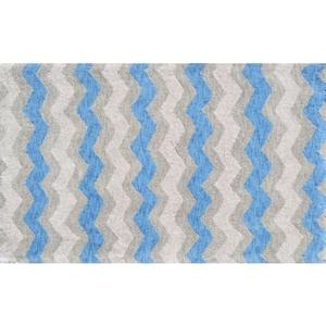 Ziggy-Blue Flannel Rug, 2.8 X 4.8