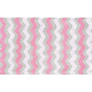Ziggy-Pink Flannel Rug, 2.8 X 4.8