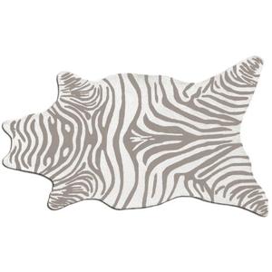Zebra Grey Shaped Hook Rug, 5 X 8Shaped