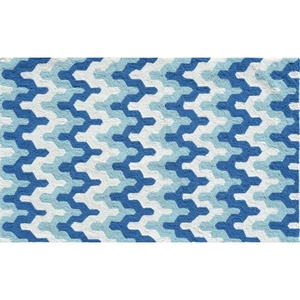 Surge Blue Hook Rug, 2.8 X 4.8
