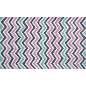 Pink Chevy Hook/Tufted Rug, 4.7 X 7.7