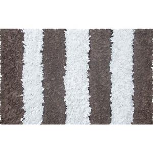 Brown Stripe Shag Shag Rug, 2.8 X 4.8