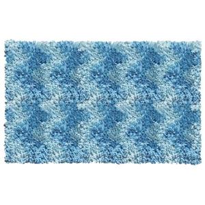 Shaggy Raggy Blue Chevron Shag Rug, 2.7 X 4.7