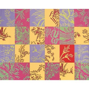 Toile Quilt Hook Rug, 7.6 X 9.6