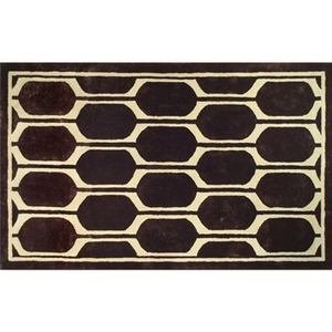 Honeycomb Brown Tufted Rug, 5 X 8