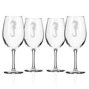 Seahorse AP Large Wine Glasses S/4