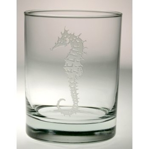 Seahorse Double Old Fashioned Glasses S/4