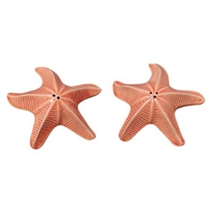 Coral Starfish Salt & Pepper Shaker Set