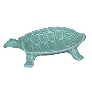 Small Turtle Dish, Turquoise