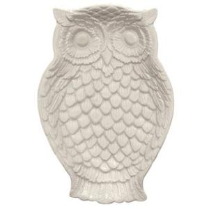 Small Owl Dish, Cream
